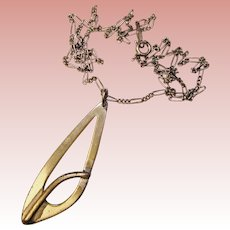 Sterling OTTO ROBERT BADE Modernist Design Pendant Necklace - Signed ORB
