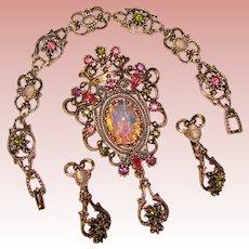 Fabulous SARAH COVENTRY Opal Glass Contessa Vintage Set