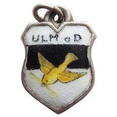 800 Silver & Enamel ULM Vintage Estate Charm - Souvenir of Germany