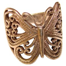 Gorgeous STERLING BUTTERFLY Design Openwork Ring