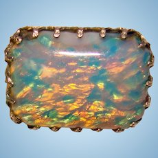 Small ART DECO Opal Glass Mini Brooch - For Doll or Lapel