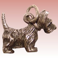 Awesome BEAU STERLING Scottie Dog Vintage Charm