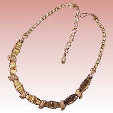 Fabulous PENNINO Signed Rhinestone Vintage Estate Necklace
