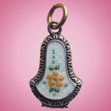 Tiny Antique Enamel Mini Locket - For Your Doll