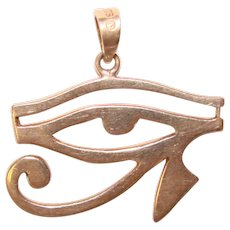Awesome STERLING Eye of Horus Vintage Pendant