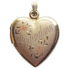 Gorgeous GOLD FILLED Heart Locket For Grandma