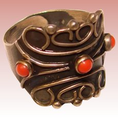 Gorgeous TAXCO MEXICO Sterling Ornate Design Vintage Ring