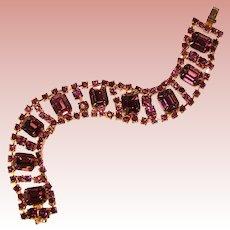 Gorgeous PURPLE Rhinestone Vintage Bracelet