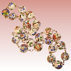 Fabulous Vintage ENAMEL Beads Estate NECKLACE