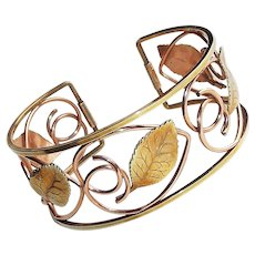 Gorgeous KREMENTZ Signed Vintage Cuff Bracelet