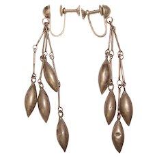 Fabulous MEXICAN STERLING Vintage Dangle Earrings