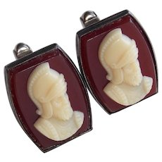 Sterling GLADIATOR SOLDIER Vintage Estate Cufflinks - Signed Swank