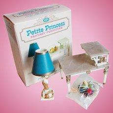 Doll House Tier Table & Lamp Set - 1960s Petite Princess Fantasy Furniture Ideal Original Box