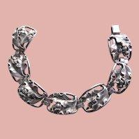 Fabulous GEORG JENSEN Sterling Acorn Oak Leaf Signed Vintage Bracelet - LaPaglia La Paglia Design