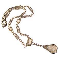 Fabulous ART DECO Clear Stones Estate Necklace