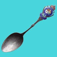 Antique TORONTO Sterling  Enamel Spoon - Souvenir of Canada