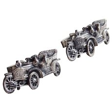 Sterling FENWICK & SAILORS Mid Century Vintage Cufflinks - Model T Car