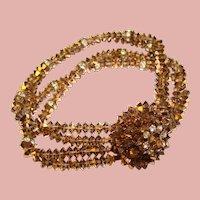 Fabulous AURUM Topaz Crystal Rhinestone Vintage Bracelet