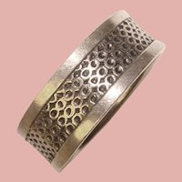 Awesome STERLING Patterned Vintage Ring - Size 12 1/2