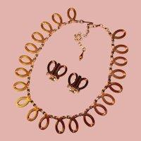 Fabulous RENOIR Vintage Necklace Set - Modernist Design
