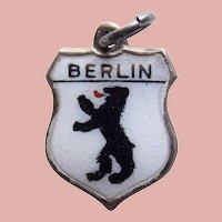 Sterling & Enamel BERLIN Vintage Estate Charm - Souvenir of Germany