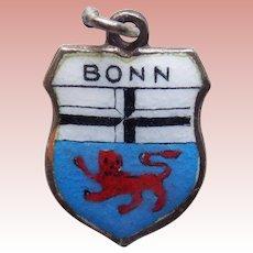 Vintage BONN 800 Silver & Enamel Charm - Souvenir of Germany