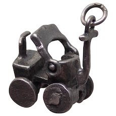 Awesome KIDDIE CAR Sterling Mechanical Movable Vintage Estate Charm