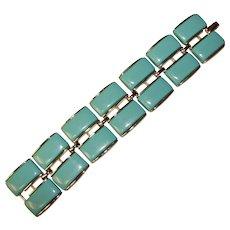 Awesome LISNER Aqua Thermoset Vintage Bracelet