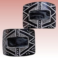 Fabulous Antique Engraved Design Shoe Buckles
