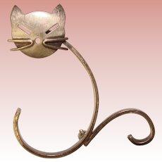 Awesome Beau Sterling MODERNIST CAT Vintage Brooch