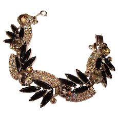 Fabulous D&E JULIANA Black & Aurora Rhinestone Bracelet