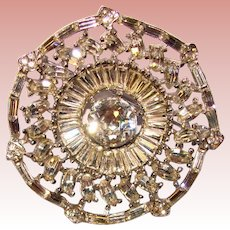 Fabulous Mixed Shapes Vintage Rhinestone Brooch