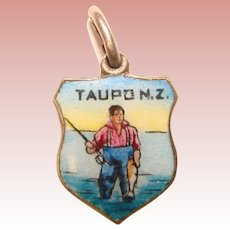 Awesome TAUPO New Zealand Enameled Travel Charm