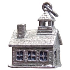 Sterling CHURCH Vintage Estate Charm - Heavy 6.2 Grams