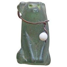 Art Deco CZECH GLASS Dog Vintage Charm