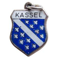 800 Silver & Enamel KASSEL Vintage Estate Charm - Souvenir of Germany