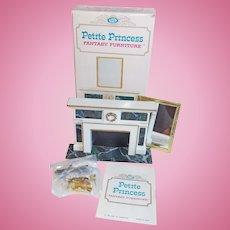 Doll House Regency Hearthplace Fireplace - 1960s Petite Princess Fantasy Furniture Ideal Original Box