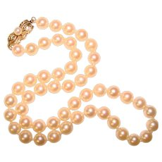 Fine 14K MIKIMOTO Cultured Akoya Pearl Vintage Necklace – 6mm Pearl