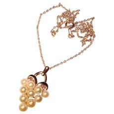 Fine CULTURED PEARL Sterling Pendant Necklace
