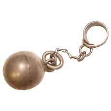 Awesome BALL & CHAIN Sterling Vintage Estate Charm