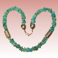 Fabulous STERLING Turquoise Jay King DRT Signed Necklace