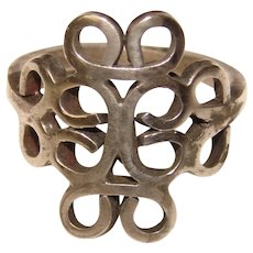 Gorgeous MEXICAN STERLING Vintage Openwork Design Ring