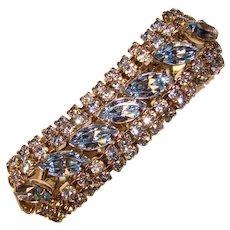 Fabulous BLUE RHINESTONE Vintage Bracelet