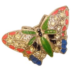 Fabulous SCENT BUG Butterfly Design Vintage Figural Brooch - Perfume Pin