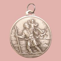 Awesome 800 Silver St. Christopher Medal Pendant - Pope John XXIII
