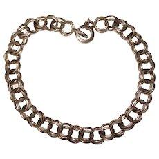 Awesome Sterling Charm Starter Double Link Vintage Bracelet