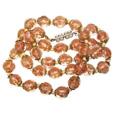 Gorgeous VENETIAN MURANO GLASS Beads Vintage Estate Necklace