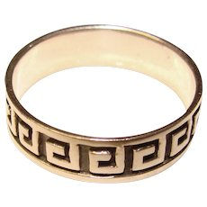 Awesome STERLING Patterned Vintage Ring - Size 9 3/4