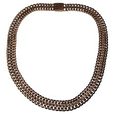 Fabulous STERLING Vintage Wide Chain Link Necklace