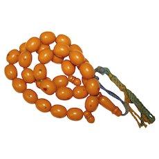 Wonderful Vintage AMBER BAKELITE Prayer Beads
